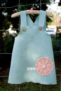 Upcycled Wool Dress Size 3 by thesecondstitch on Etsy, $30.00