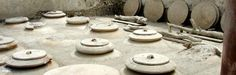 """Sunken wine jars or """"dolii"""" were used to ferment the wine, below ground at a constant temperature and most likely the first true wine cellars. Photo: www.coopculture.it"""