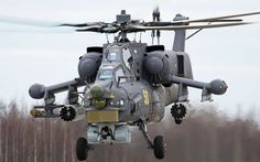 """The Mil Mi-28N """"Havoc"""" Russian attack helicopter"""
