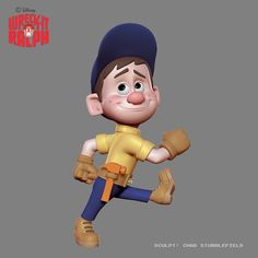 BEHIND the SCENES Wreck-it-ralph!!! Sculpt: Chad Stubblefield ZbrushCentral