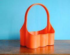 Porte Bouteilles en plastique orange des 70's