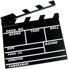 clapper boards make a great gift for filmmakers