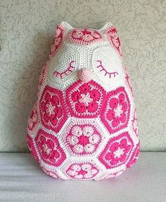 Luty Artes Crochet: Almofadas com crochê + Gráficos.