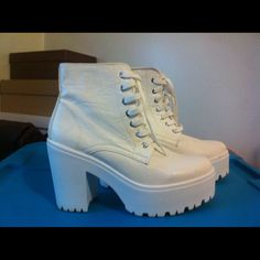 Top shop chunky heel White chunky her sneaker Topshop Shoes Sneakers