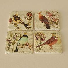 Bird Coasters - kitchen