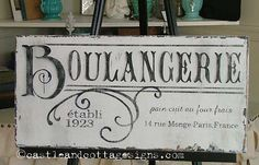The perfect sign for your French country kitchen!