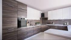 Built-in oven at eye level, Induction cooktop, Built-in bottom mount fridge-freezer, Fully integrated dishwasher 60 cm