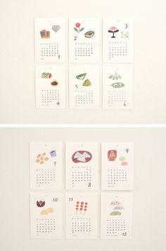 I love the idea of a simple calendar with Japanese illustrations. This one is themed on mochi. Too bad it's out of stock (I think it was last year's).
