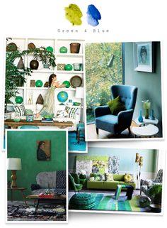 Gorgeous blues and greens via www.thehome.com.au