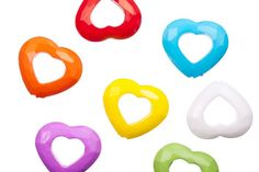 Faceted opened heart mix color opaque acrylic beads 35x30.7mm at $1.6/100G/22PCS, shop plastic beads at Beadingsupplys.com