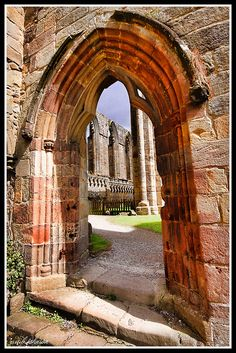 Bolton Abbey, Yorkshire, UK through the door by car 67, via Flickr