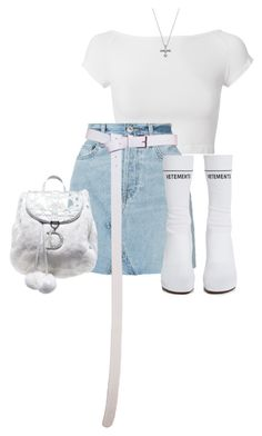 """""""Untitled #839"""" by chanelkillla ❤ liked on Polyvore featuring Helmut Lang, RE/DONE, Vetements, Maria Canale and Christian Dior"""