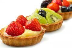 Tartaletas de Crema de Vainilla y Frutas