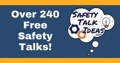 Hundreds of free safety talks on a variety of topics for your next safety meeting or toolbox talk! Fresh ideas for tailgate meetings or safety moments at work. These 5 minute toolbox talks are easy to use. Safety Moment Ideas, Safety Moment Topics, Safety Topics, Safety Talk, Safety Meeting, Safety Toolbox Talks, Tool Box Talks, Office Safety, Office Meeting
