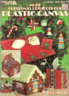 Christmas Projects-Christmas Tree Placemat Set-1