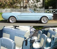 Absolutely LOVE 64 1/2 Mustang Convertibles! I've wanted this car my entire life, and I will have it one day :D