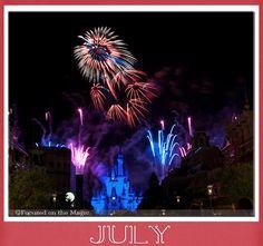 Disney Wordless Wednesday Blog Hop Linkup: July Calendar Shot