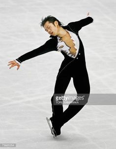Tokyo, JAPAN: Japanese skater Daisuke Takahashi performs during the free skating of men's event in the World Figure Skating Championships in Tokyo, 22 March 2007. Takahashi won the silver medal. AFP PHOTO/Toru YAMANAKA (Photo credit should read TORU YAMANAKA/AFP/Getty Images)