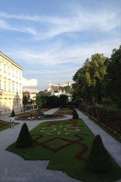 Beautiful flowers and garden at Mirabellgarten - Salzburg, Austria/Österreich