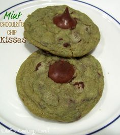 Mint Chocolate Chip cookie recipe - easier than you could imagine