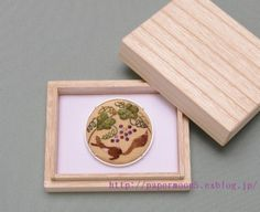 brooch Japanese embroidery