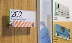 6+x+3+Door+Sign+w/+Acrylic+Plates,+Standoffs+&+Film+Sheets