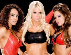 Layla,Kelly Kelly and Brooke Tessmacher