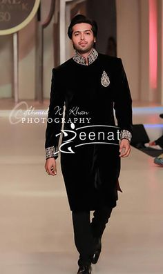 Fahad Mustafa In Designer Zainab Chottani at Pantene Bridal Couture Week 2013.
