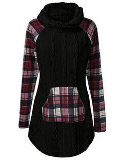 GET $50 NOW | Join RoseGal: Get YOUR $50 NOW!http://www.rosegal.com/sweaters/plaid-cable-knit-tunic-sweater-979661.html?seid=7730183rg979661