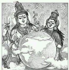 Pen Sketch, Art Sketches, Devon Ke Dev Mahadev, Lord Murugan, Lord Shiva Painting, Nataraja, Doodle Designs, Sacred Art, Gods And Goddesses