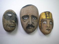 Outsider Art Original Painting Stone Kaveman Rock Frankenstein Folk Halloween   eBay