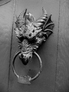 baddest door knocker i've ever seen; Monschau, Germany.