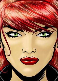 Black Widow Portrait Series 2 by Thuddleston@deviantART