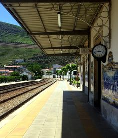 Slowing Down in Porto and the North of Portugal - via I'm Not A Tourist, I Swear! 02.07.2015 | ...take a cruise all the way up into the Douro Valley where lush, green vineyards are nurtured along either side of the glistening water. Disembark in one of the nearby towns of Peso de Regua or Pinhao to tour one of the quintas nestled in the hilltops. #portugal #travel #tips Photo: Pinhao