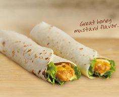 Honey Mustard Crispy Chicken Wrap