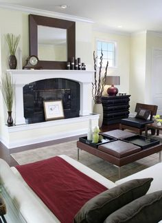 Find the inspiration for your room, whether it's a stunning fireplace or unique mirror.