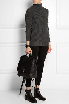 Rick Owens|Chunky-knit wool turtleneck sweater|NET-A-PORTER.COM