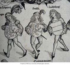 a collection of medieval woodcuts