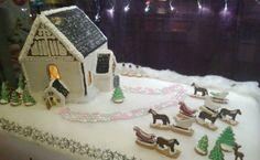 Wanhan ajan Joulukirkko Porvoolaisittain. Tähän piparityöhön meni n. 12kg taikinaa :) - by Mervi -- Piparkakkutalo, Joulu, Porvoo, Gingerbread, Christmas