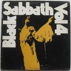 1972 BLACK SABBATH Vol. 4 1970s vinyl LP record album sleeve