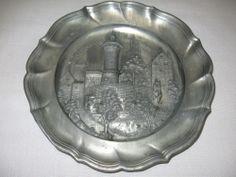 Pewter Saucer Plate Wall Hanging Nurnberg Castle 3D Germany $29.99