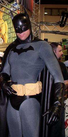 "Batman cosplay His pose makes me think ""Batman would like... to TANGO!"" though. ;)"