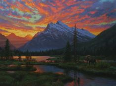 """My son loves this painting.  I like it too and many of the other works by the artist.  """"Peaceful Evening"""" by Mark Keathley"""