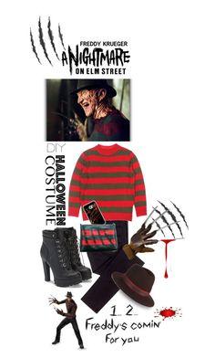 """DIY Halloween Costume..FREDDY KRUEGER"" by shortyluv718 ❤ liked on Polyvore featuring Freddy, Cheap Monday, rag & bone, JustFab, halloweencostume and DIYHalloween"
