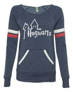 Limited Quantity - Harry Potter inspired Hogwarts school sweater womans sexy open neck off the shoulder sweatshirt