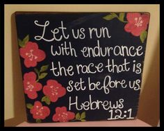 DIY Lilly Bible verse canvas