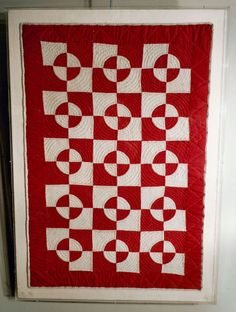 """American Crib Quilt, Late 19th century, 23"""" x 36"""", mounted, James Lowery American Antiques"""