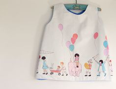 Girls Tulip Pinafore 2 to 3 years by CottontailNZ on Etsy