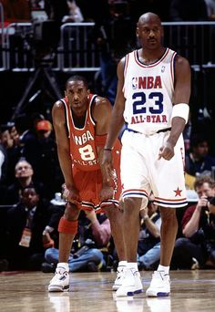 Michael Jordan Kobe Bryant NBA All-Star Game. (Kobe looks a lil tired. 06db982203