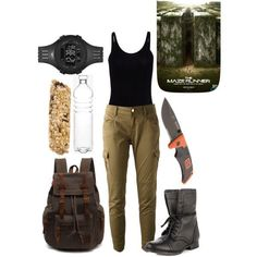 Maze runner The Maze Runner Zodiacs Your Outfit Archaeology Archaeology outfit Maze Outfit runner Zodiacs Zombie Apocalypse Outfit, Apocalypse Fashion, Apocalypse Survival, Runners Outfit, Dystopian Fashion, Movie Inspired Outfits, Adventure Outfit, Runner Girl, Fandom Outfits